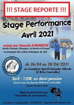 Stage reporté !